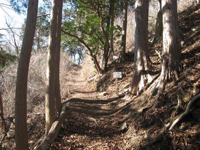 笠山神社への階段入口