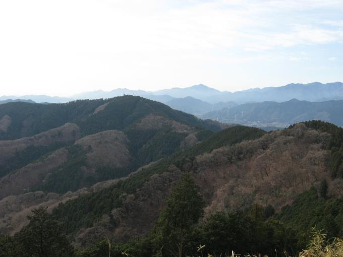 小仏城山と丹沢の大山