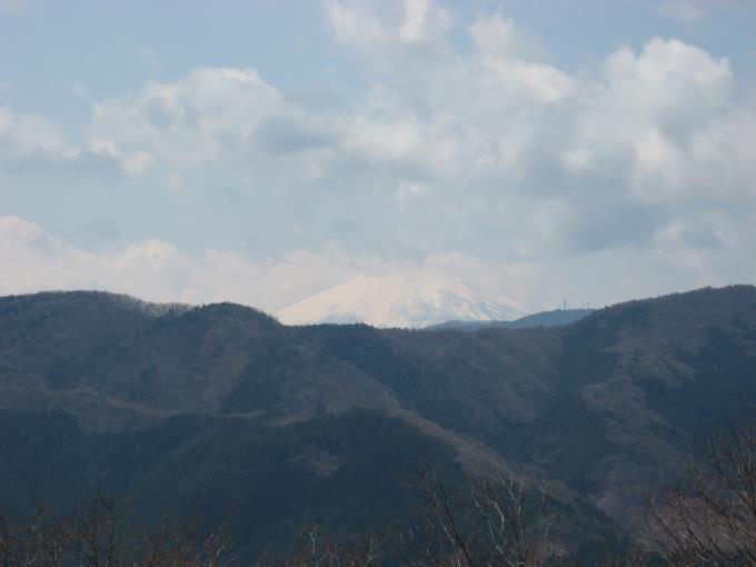 浅間嶺から富士山のアップ