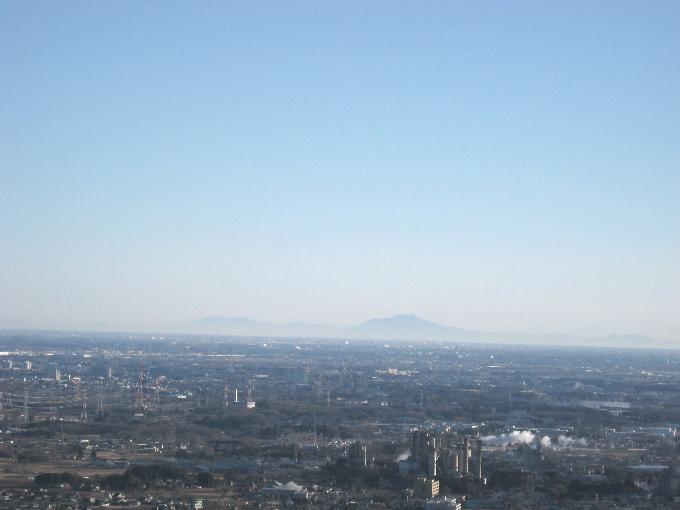 日和田山から見た筑波山