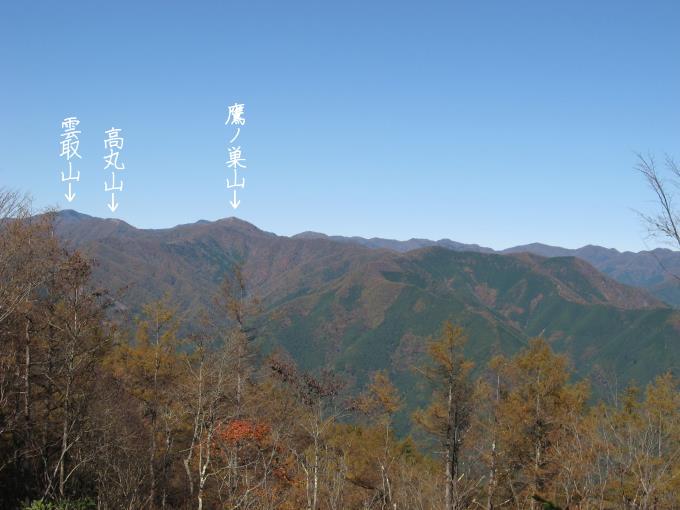 御前山山頂からの見晴し