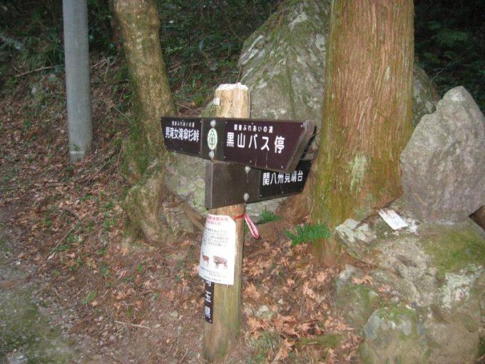 関八州見晴台への分岐にある案内板
