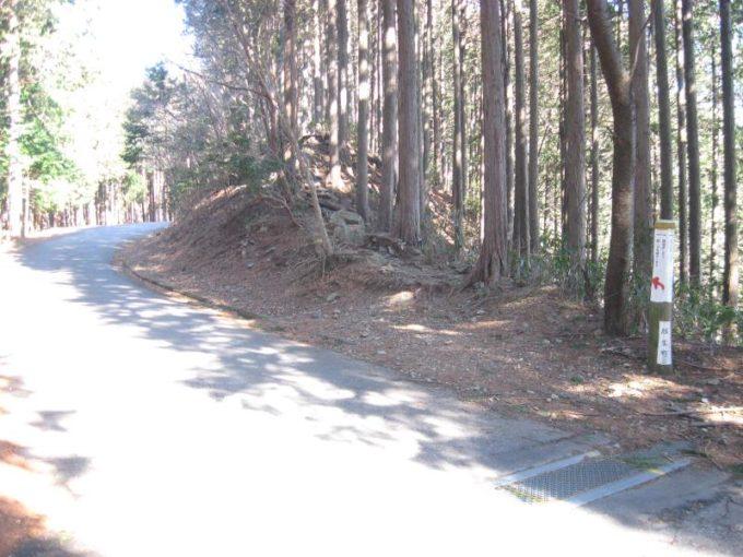 登山道入口の写真