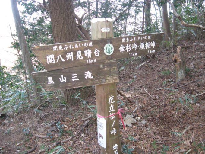 花立松ノ峠にある案内板