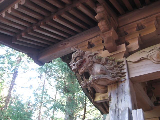 奥ノ院入口の門の装飾