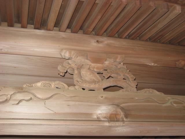 奥ノ院入口の門の装飾飾り