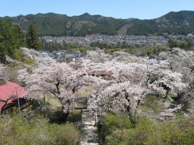 愛宕神社階段上からの眺め