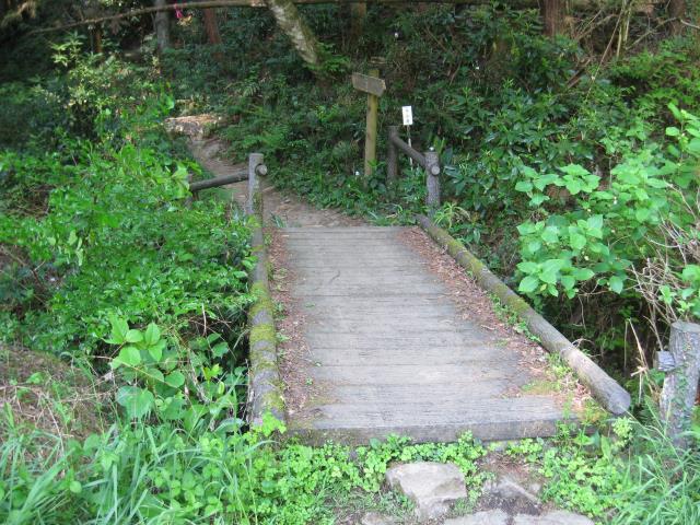 木製の小さな橋