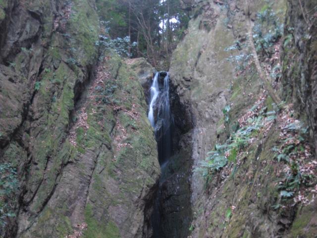 天狗滝最上部の写真
