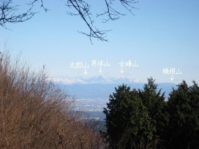 関八州見晴台の山頂から見た栃木県方面の見晴し