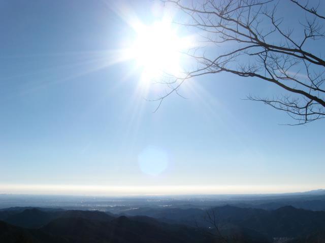 関八州見晴台の山頂からの南側の展望