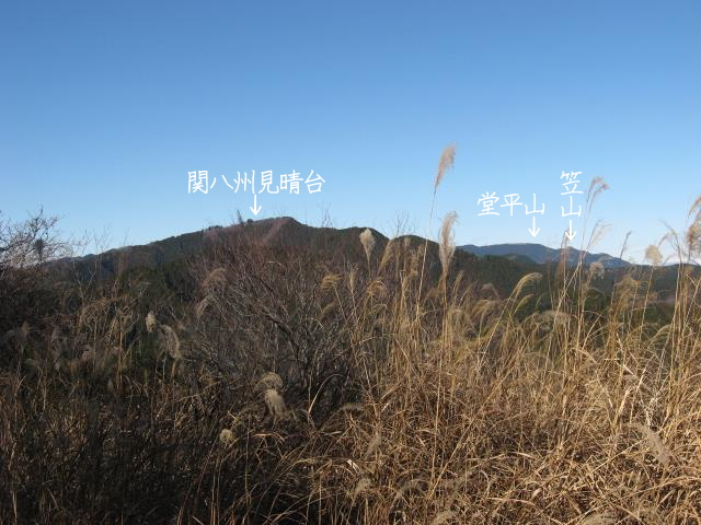 雨乞い塚から見た関八州見晴台