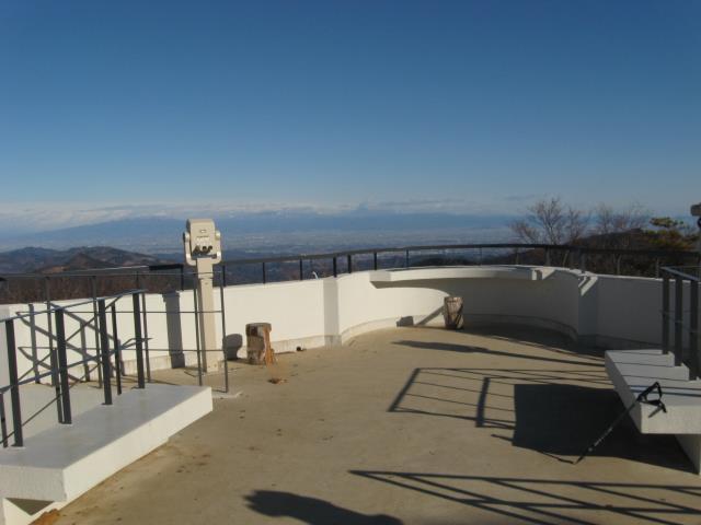 丸山山頂にある展望台