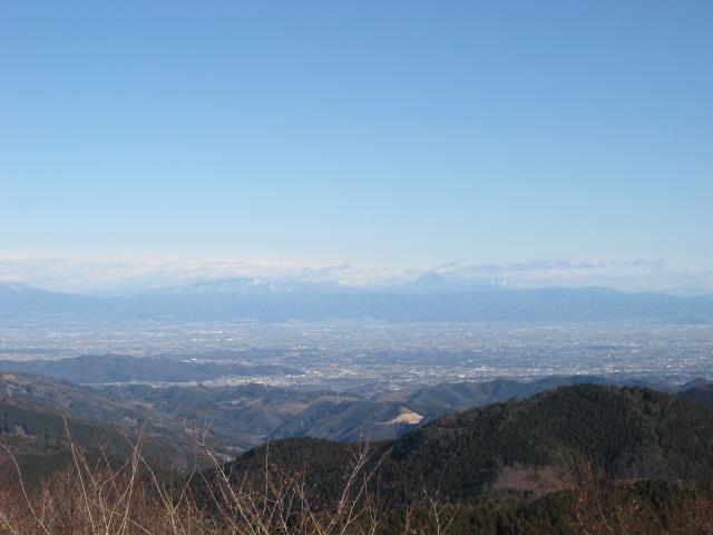栃木県の男体山方面の眺め
