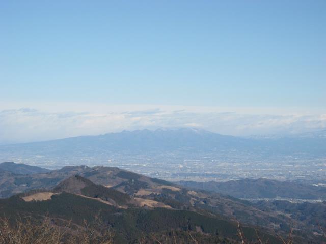 群馬県の赤城山方面の眺め