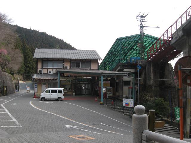 ケーブルカーの滝本駅
