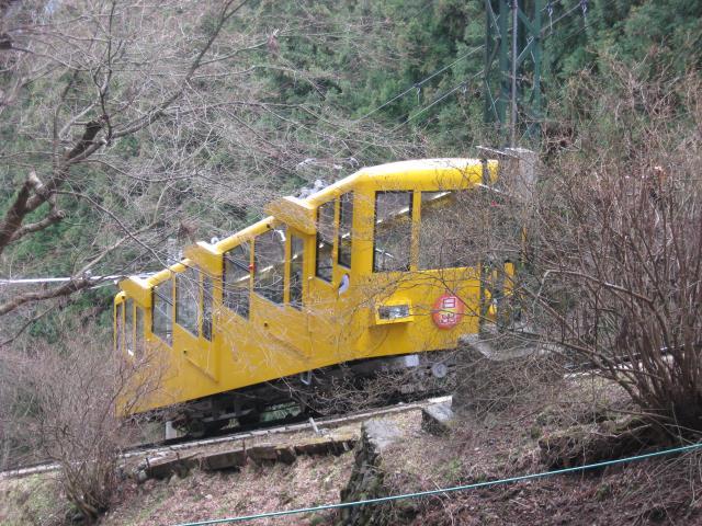 黄色いケーブルカー