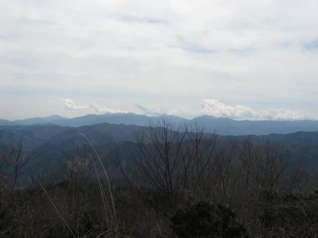 神奈川県丹沢方面の展望