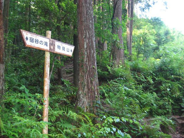 物見山への案内板が出てきたらヤセオネ峠の始まりです。